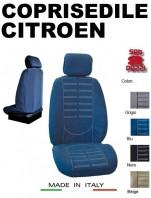 Coprisedili Anteriore in Microfibra Protezione Completa per Auto CITROEN con AIRbag mod. TECHNO 2Pz.