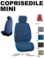 Coprisedili Anteriore in Microfibra Protezione Completa per Auto MINI con AIRbag TECHNO 2Pz.
