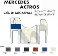 Tappeti su Misura per Camion Mercedes ACTROS Cabina LH MegaSpace con/senza Sedile SFO
