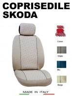 Coprisedili Anteriore in Cotone per Auto SKODA con AIRbag mod. GRIFFE 2Pz.