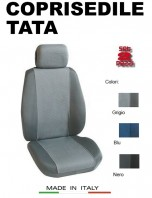 Coprisedili Anteriore Tessuto in Cotone Traspirante per Auto TATA con AIRbag mod. PREMIUM 2Pz.
