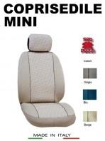 Coprisedili Anteriore in Cotone per Auto MINI con AIRbag mod. GRIFFE 2Pz.