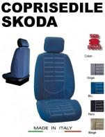 Coprisedili Anteriore in Microfibra Protezione Completa per Auto SKODA con AIRbag mod. TECHNO 2Pz.