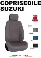 Coprisedili Anteriore Tessuto in Cotone Trapuntato per Auto SUZUKI con AIRbag TURBO 2Pz.