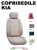 Coprisedili Anteriore in Cotone per Auto KIA con AIRbag mod. GRIFFE 2Pz.