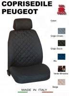 Coprisedili Anteriore in Cotone per Sedile Auto PEUGEOT con AIRbag mod. TEAM 2Pz.