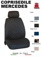 Coprisedili Anteriore in Cotone per Sedile Auto MERCEDES con AIRbag mod. TEAM 2Pz.