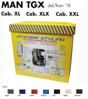 Kit Interno Cabina Completo su Misura per Camion MAN TGX dal 2018 Cabina XL - XLX - XXL