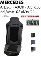 Coprisedile in Microfibra Traspirante 3D AntiSudore AIRPLUS per Camion Mercedes ATEGO AXOR ACTROS dal 2002 al 2011