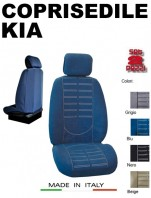 Coprisedili Anteriore in Microfibra Protezione Completa per Auto KIA con AIRbag mod. TECHNO 2Pz.