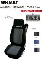 Coprisedile in Microfibra Traspirante 3D AntiSudore AIRPLUS per Camion Renault MIDLUM PREMIUM MAGNUM