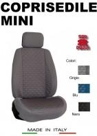 Coprisedili Anteriore Tessuto in Cotone Trapuntato per Auto MINI con AIRbag TURBO 2Pz.