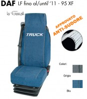 Coprisedile in Microfibra Traspirante AntiSudore AIRTECH per Camion DAF LF fino al 2011 e 95XF