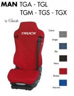 Coprisedile Singolo in Cotone Trapuntato per Camion MAN TGA TGL TGM TGS TGX