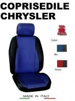 Coprisedili Anteriore Sedile Sportivo in Tessuto Traforato per Auto CHRYSLER con AIRbag CHRONO 2Pz.