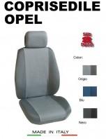 Coprisedili Anteriore Tessuto in Cotone Traspirante per Auto OPEL con AIRbag mod. PREMIUM 2Pz.