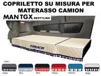 Copriletto su Misura per Materasso Cabina Camion MAN TGX Restyling dal 2021