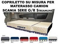 Copriletto su Misura per Materasso Cabina Camion SCANIA G/R Streamline dal 2013