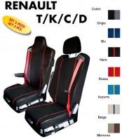 Coprisedili EXTREME Microfibra per Camion Renault T K C D dal 2013 in poi con un poggiatesta staccato e uno integrato al sedille