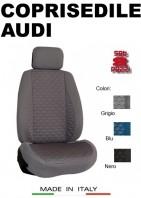 Coprisedili Anteriore Tessuto in Cotone Trapuntato per Auto AUDI con AIRbag mod. TURBO 2Pz.