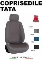 Coprisedili Anteriore Tessuto in Cotone Trapuntato per Auto TATA con AIRbag mod. TURBO 2Pz.