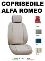 Coprisedili Anteriore in Cotone per Auto ALFA ROMEO con AIRbag mod. GRIFFE 2Pz.