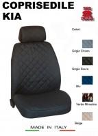Coprisedili Anteriore in Cotone per Sedile Auto KIA con AIRbag mod. TEAM 2Pz.