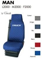 Coprisedile Singolo in Cotone Trapuntato per Camion MAN L2000 M2000 F2000