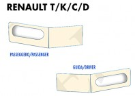 Coprisupporti Sedile (guida+passeggero) per Camion Renault modello T, K, C, D