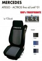 Coprisedile in Microfibra Traspirante 3D AntiSudore AIRPLUS per Camion Mercedes ATEGO e ACTROS fino al 2001