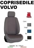 Coprisedili Anteriore Tessuto in Cotone Trapuntato per Auto VOLVO con AIRbag mod. TURBO 2Pz.