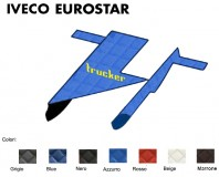 Copricofano Copertura Cofano Trucker Ecopelle su Misura per Camion IVECO EUROSTAR